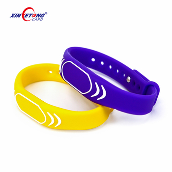 125khz EM4200 RFID Wristband Bracelet ID Card Silicone RFID Band Read Only Access Control Card NFC Tags