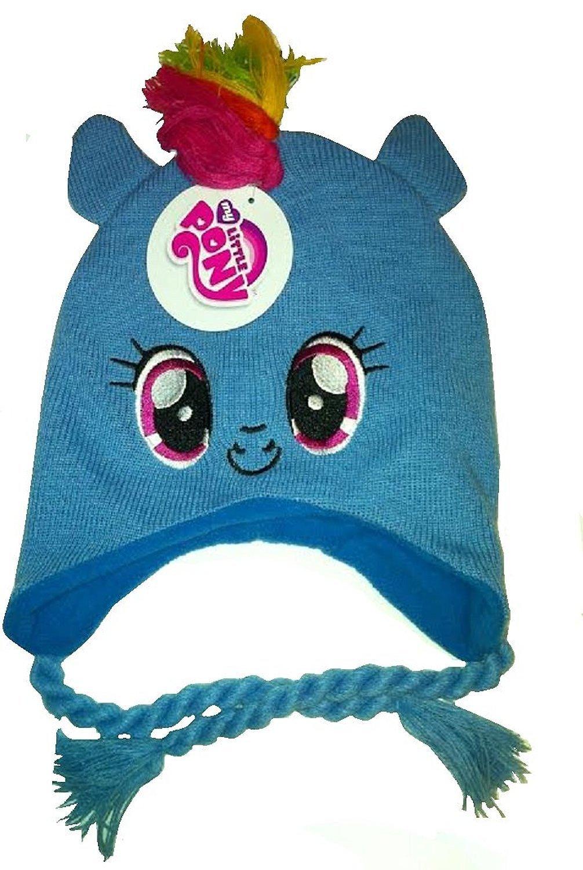 586fedc19ab Get Quotations · My Little Pony ~ Rainbow Dash Mohawk ~ Knit Hat