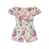 Posh Girls Indiana Feather Head Print Lace Jumpsuit Baby Girl Rompers Kids Clothing Wholesale