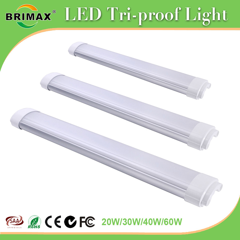 60W 1500MM Tri-Proof LED Batten Linear Tube with IP67
