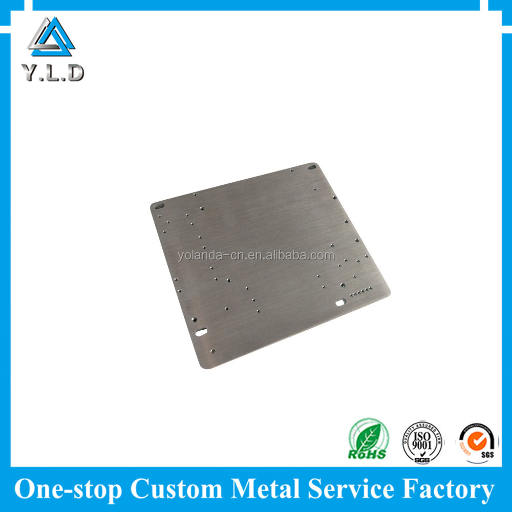 Precision Metal Manufacturing Expert Qualified Custom Brushed Aluminum CNC Milling Electrical Panel