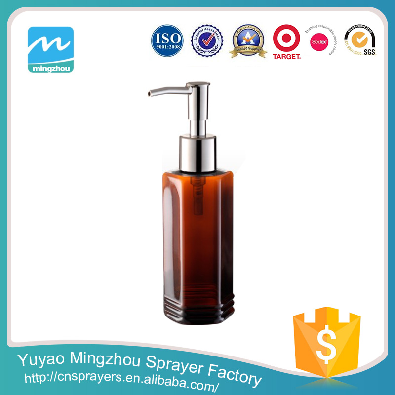 MZ-T Airless Bubble Bath Bottle/ Glass Soap Foam Pump Bottle