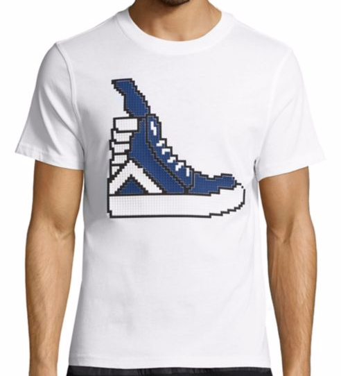 High-Top Sneaker Graphic Printing Tee Shirt