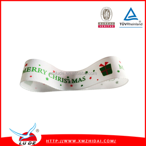 Lude Factory Made Green Christmas Ribbon for Christmas Tree Decoration