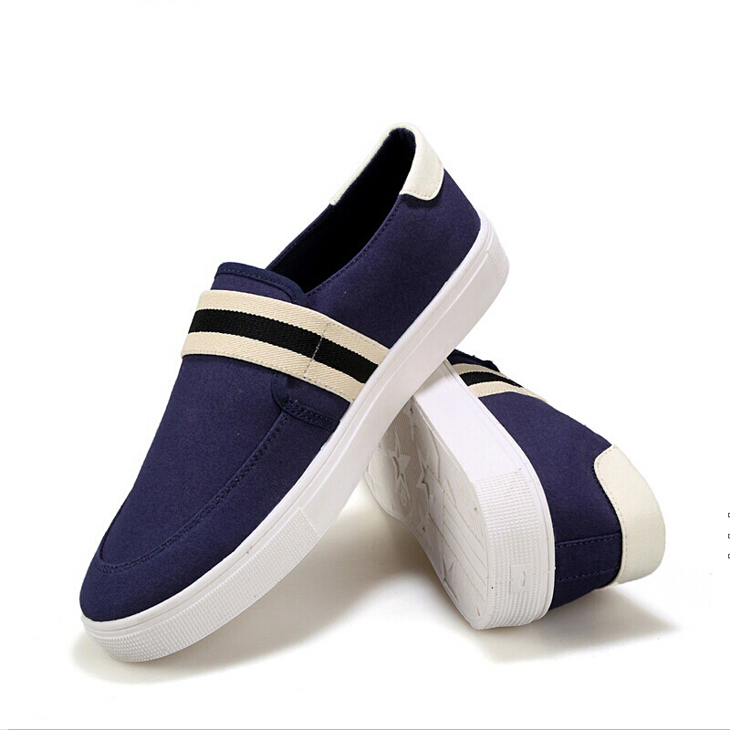 e266e5cd1 Get Quotations · The 2015 Summer Men's Canvas Shoe New Korean Fashion  Metrosexual Students Lazy Leisure Sports Shoes Black