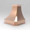 wall mounted copper kitchen range hood / cooker hoods with smooth surface finish