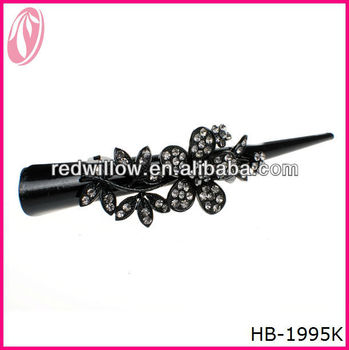 Plastic Long Old Fashion Hair Clip Design For Daily Use