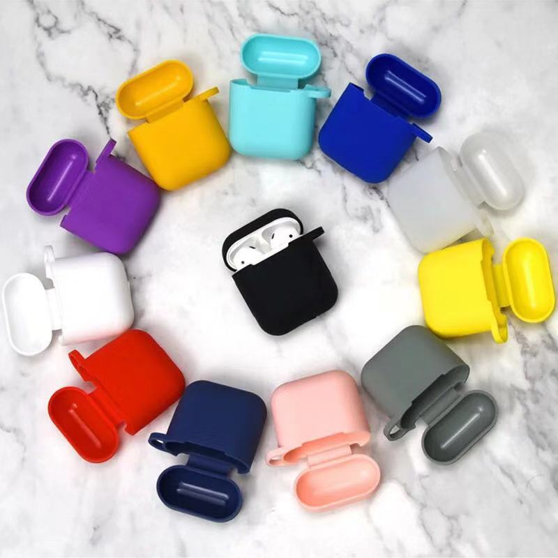 Soft Silicone Case For Air Pods Shockproof Earphone Protective Cover Waterproof for iphone 7 8 Headset Accessories