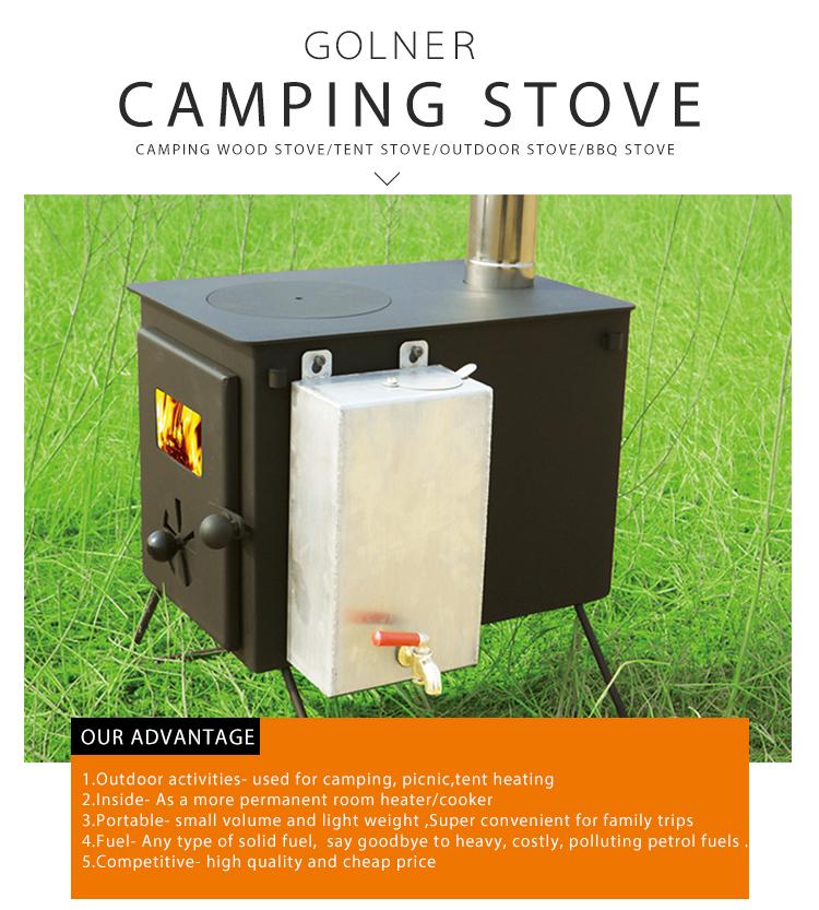 Cheap freestanding wood burning stove, Camping Wood Long Burning Stoves  with water boiler - Cheap Freestanding Wood Burning Stove,Camping Wood Long Burning