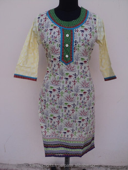 2018 New Latest Kurti Designs For Women Style Design Cotton Printed