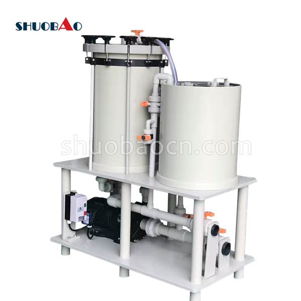 ShuoBao chemical filter electroplating silver equipment for anodizing electroplating