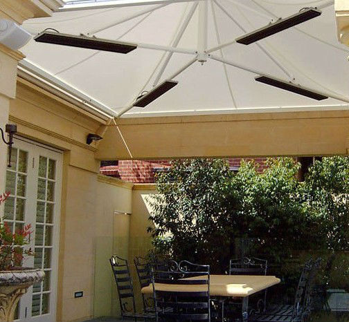 IPX4 Patio Heater Outdoor Ceiling Electric Wall Mounted Infrared Heater