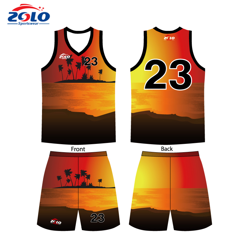 Cheap sublimated customized red and white basketball jerseys
