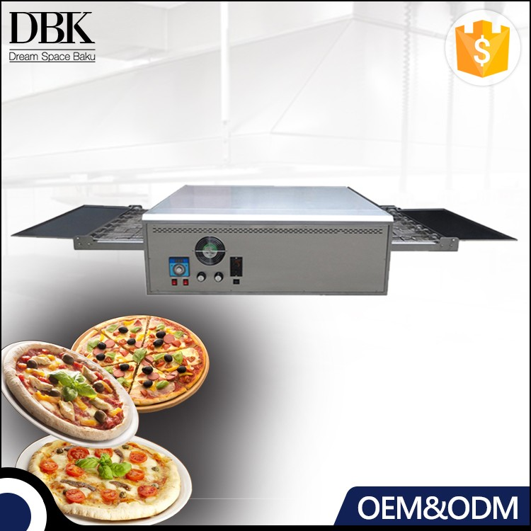 Guangzhou outdoor pizza oven wood fired commercial stainless steel conveyor pizza oven price