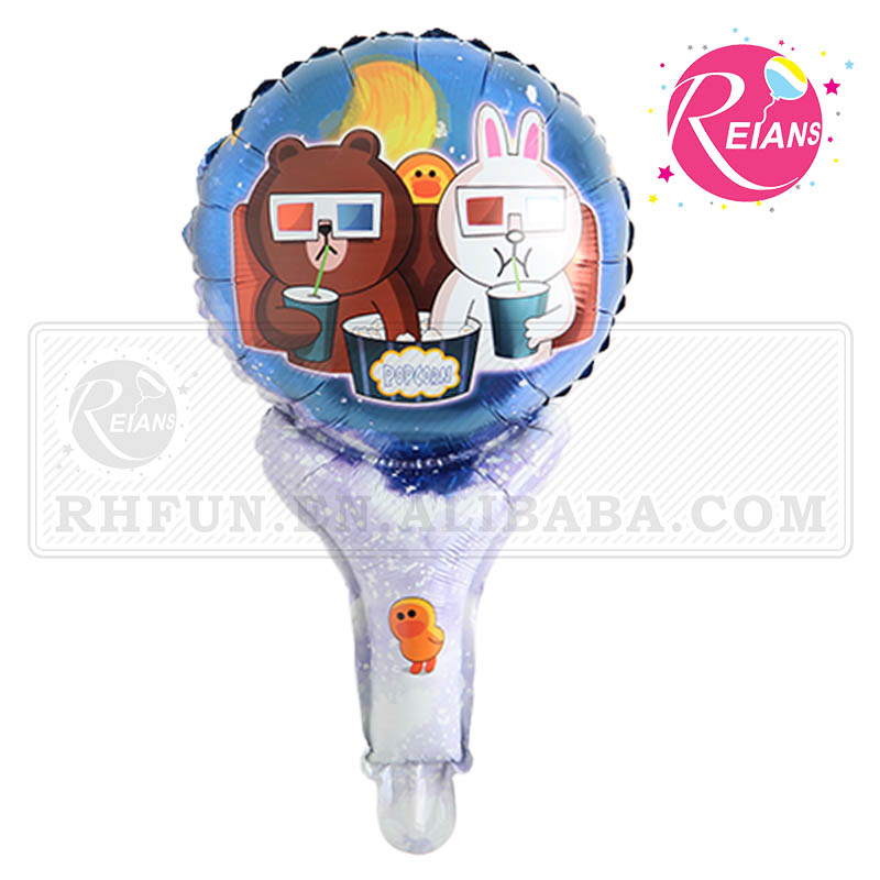 Reians customized 28*51cm handheld animal bear balloon clappers balloon shape toy supplies baloon(Accept OEM,ODM)