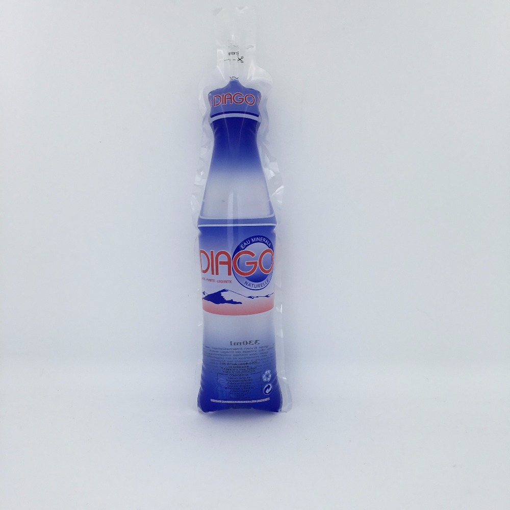 330ml heat seal bottle shaped mineral water packaging pouch bag