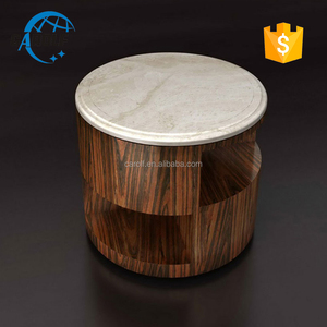 travertine top small round side table sofa corner table