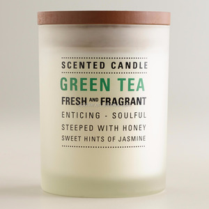 Green Tea Frosted Tumbler Glass Candle