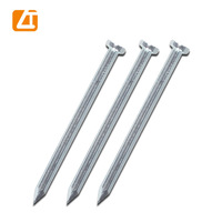 China factory zinc coated/galvanized concrete steel nail sizes for construction