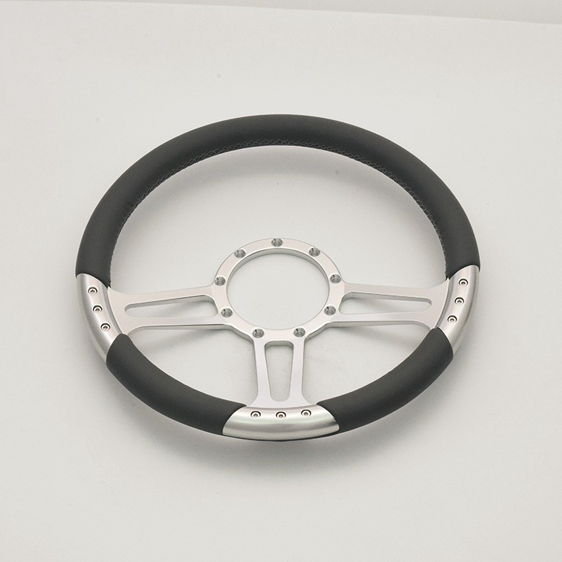 China new design 350mm Full leather steering wheel for GM Corvair Impala