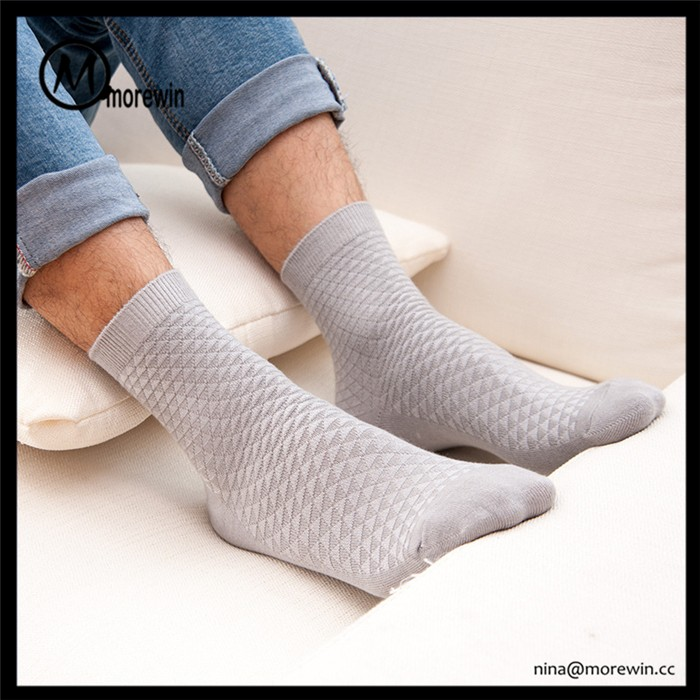 Morewin high quality bamboo work sock for man