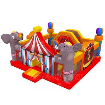 circus amusement park Bounce House Combo slide obstacle bouncer jumper bounce houseToddler Town inflatable jumping castle Combo