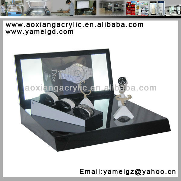 clear acrylic watch case jewelry watch display stand