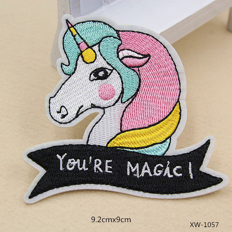 embroidery patch unicorn fox cats patches DIY clothes