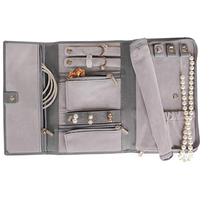 PU Leather Travel Jewelry Bag Portable Jewelry Storage Case Jewelry Organizer