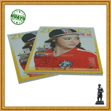 Casual clothes magazine printing soft cover with glossy lamination