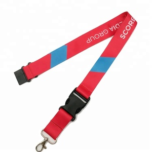 2018 China supplier Cheap Polyester Plain Lanyard with a metal clip and a breakaway clasp for added safety