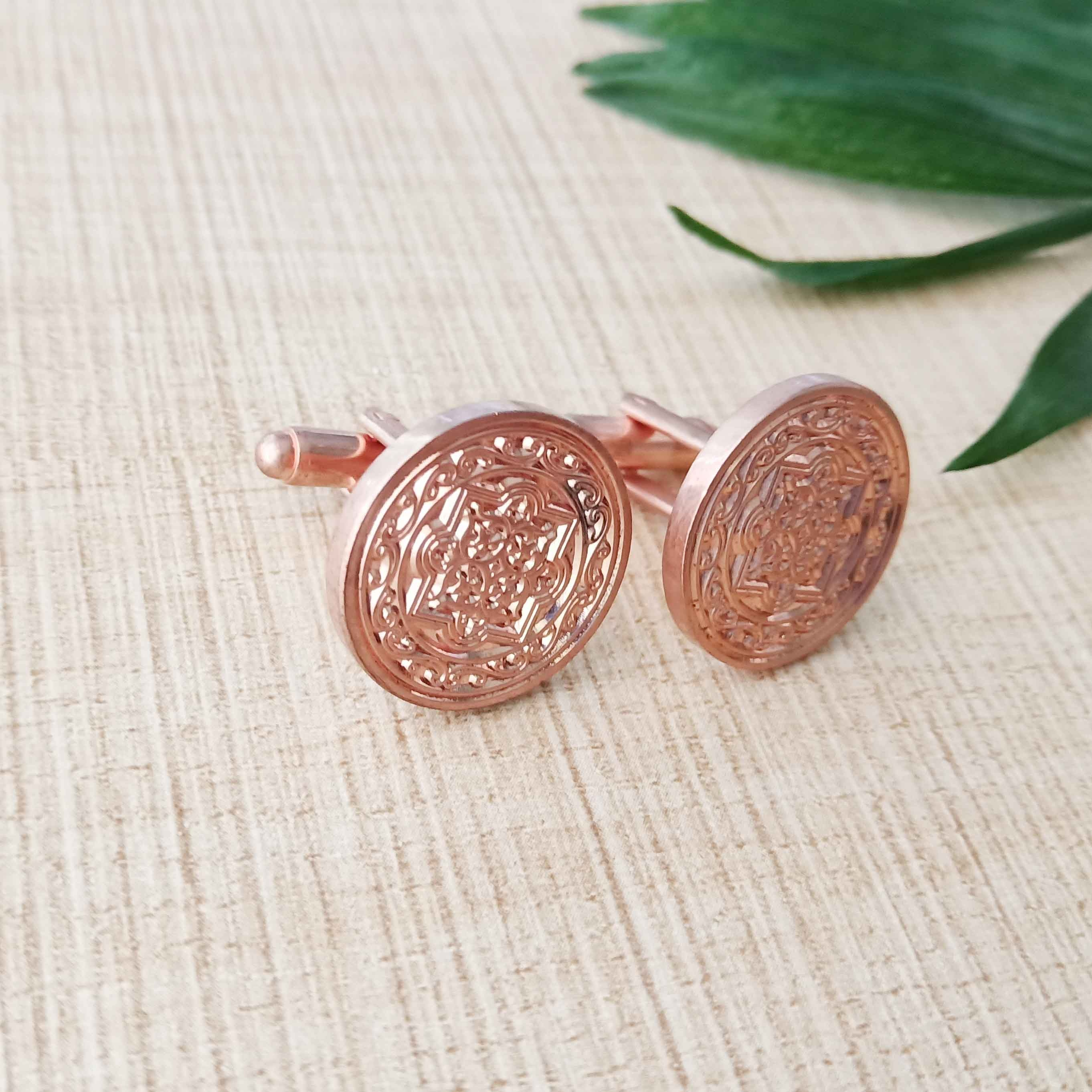 Rose gold high fashion <strong>custom</strong> <strong>engraved</strong> logo <strong>cufflinks</strong>