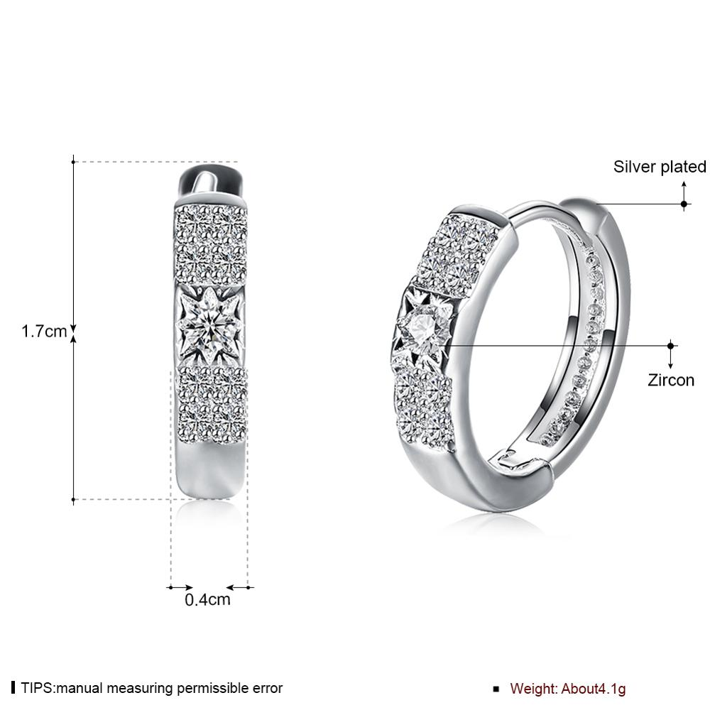 swarovski jewellery silver buy cz vorra fashion plated heart product online platinum double a earrings