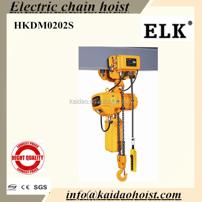2000kg Electric Chain Hoist /Manual Trolley/110V single phase hoist