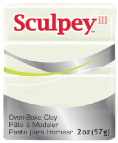 Polyform S302-1101 Sculpey-3 Polymer Clay, 2-Ounce, Pearl