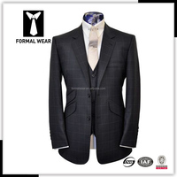 2017 fashion style bespoke suit designer slim fit hand made tailor suits for men