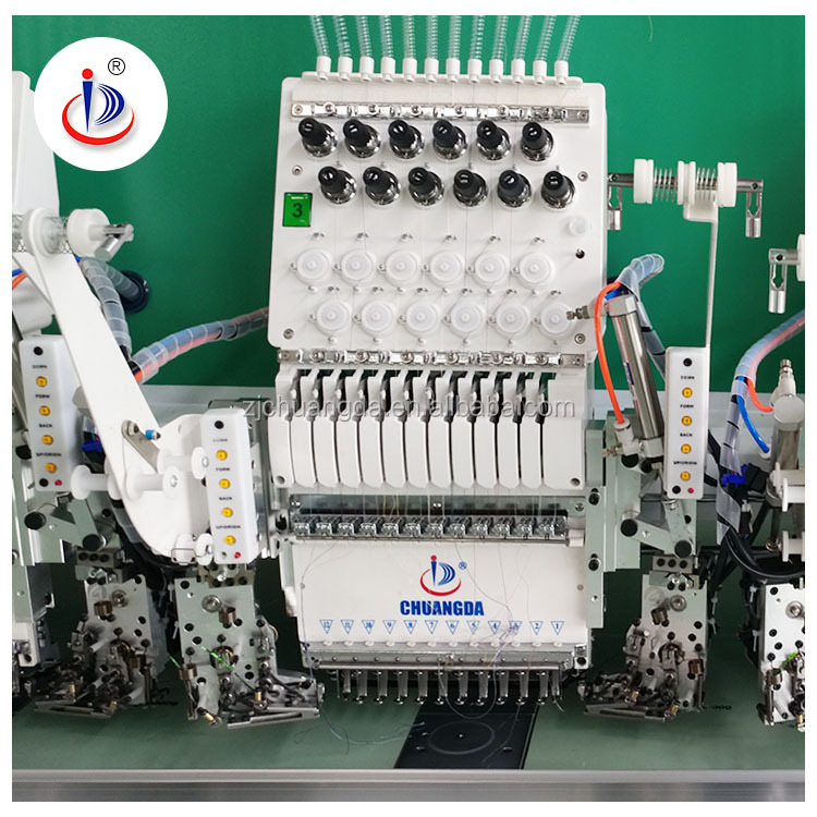 1226 12 NEEDLES PER HEAD 26 HEAD DOUBLE TWIN SEQUIN DEVICE HIGH SPEED FLAT EMBROIDERY MACHINE WITH REASONABLE PRICE FOR SALE