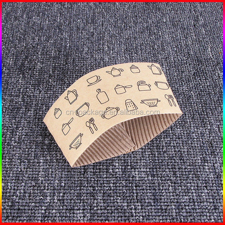 custom cup kraft corrugated paper sleeve