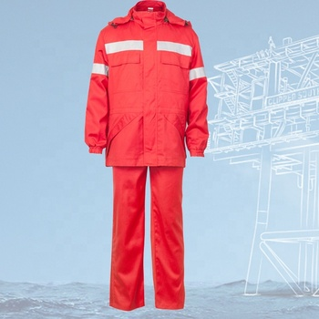 China high visibility Eco aramid twill flame resistant fire retardant oil and gas garage workwear work safety overall