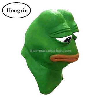 2017 Hot Selling Pepe The Frog Latex Mask Halloween Meme Costume