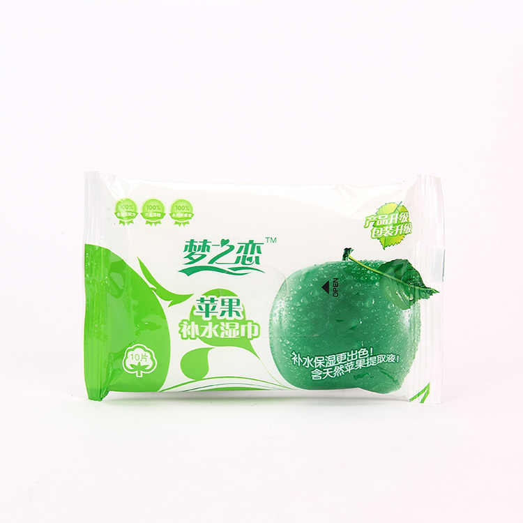 10pcs soft skin care wipes refreshing wet tissue