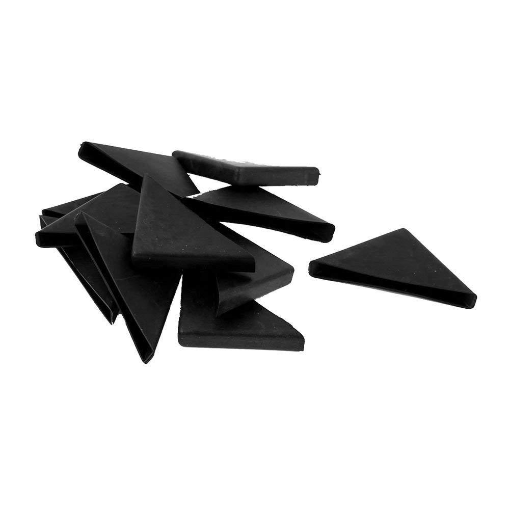 TOOGOO(R) 12 Pcs 8mm x 75mm Black Plastic Recessed Furniture Corner Protectors
