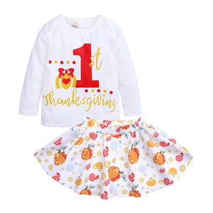 Christmas Children's Boutique Clothing Baby Girls Cotton Outfits Bulk Wholesale Kids Clothing