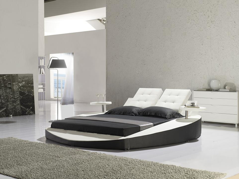 Leather round bed italian leather bed modern leather bed buy leather roun - Lit capitonne 160x200 ...