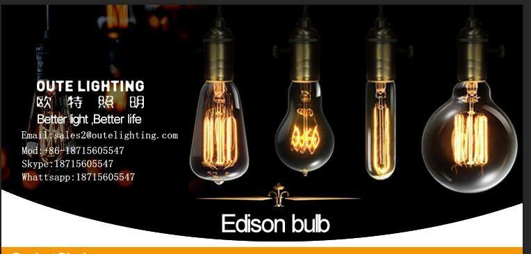 Pear Shape Vintage Antique Edison Bulb Carbon Decorative Filament ...