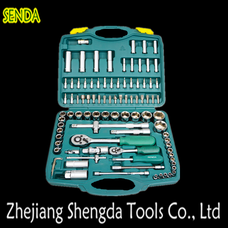 Combination Spanner Plastic Box 94 Pcs Socket Wrench Set