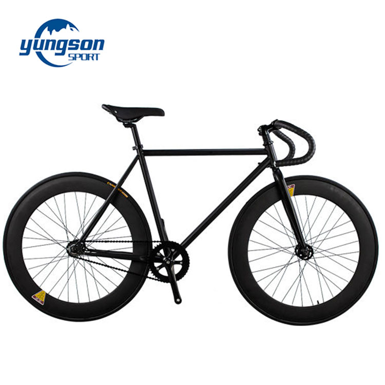 Popular black fixed gear bike 700c single speed track bicycle on sale