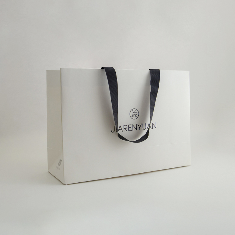 Custom Glossy Laminated Gift Shopping Paper Bag For Garments
