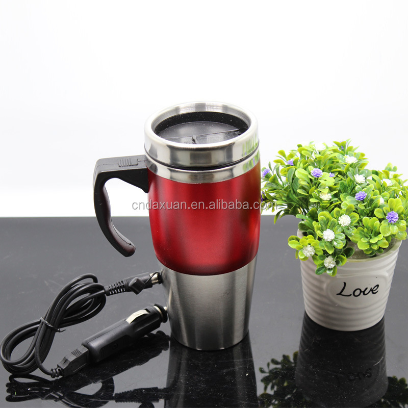 Personalized electric travel mug with usb plug