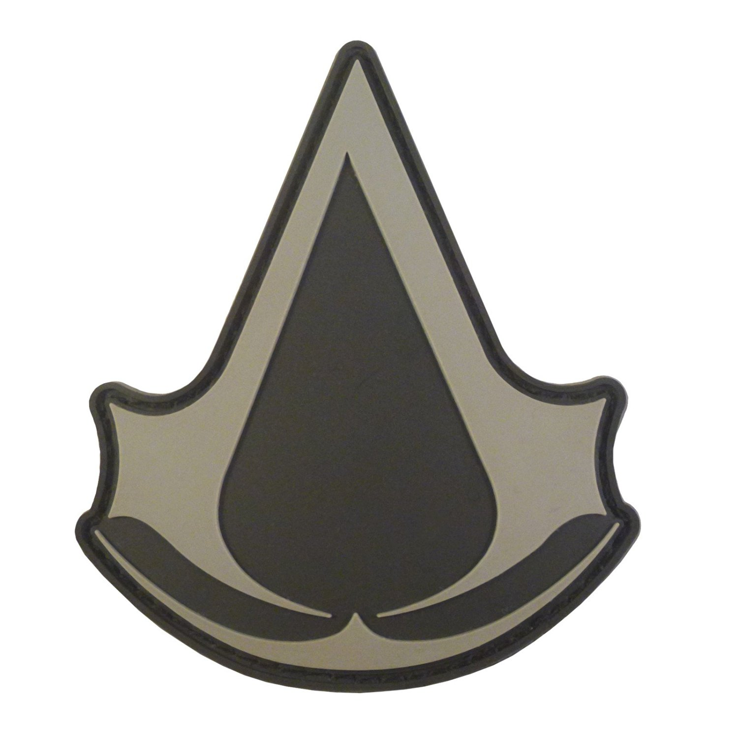 Assassin's Creed ACU Gray PS PS3 PS4 Xbox Cosplay PVC Rubber 3D Hook&Loop Patch